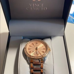 Vince Camuto Silver/Rose Gold Watch